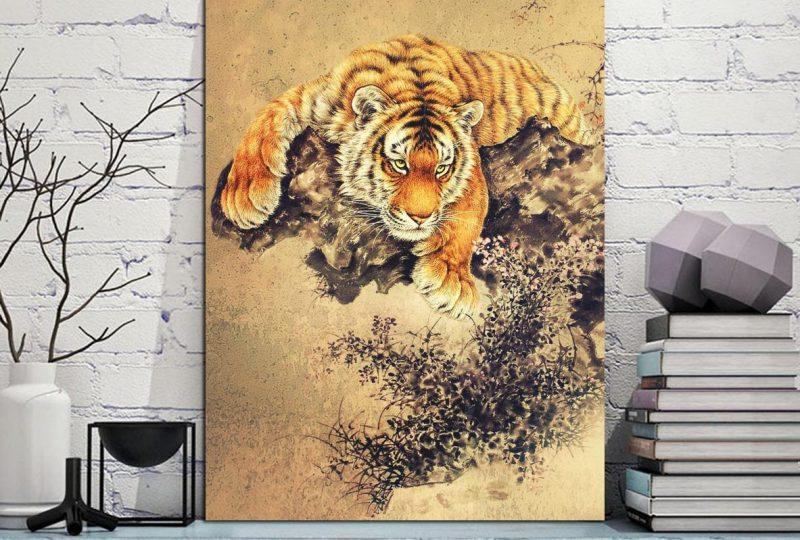 Tableau Japonais le tigre