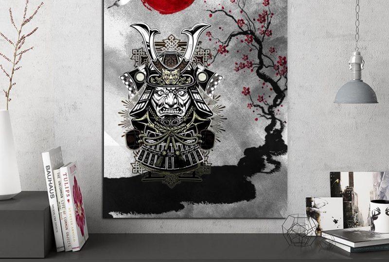 Tableau armure de samouraï