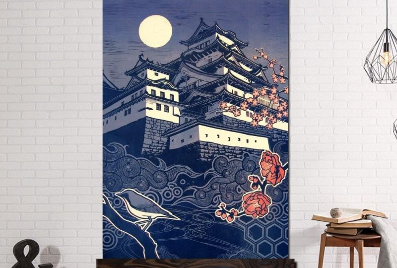 Tableau château Japonais Tableau Japonais Tableau Monde
