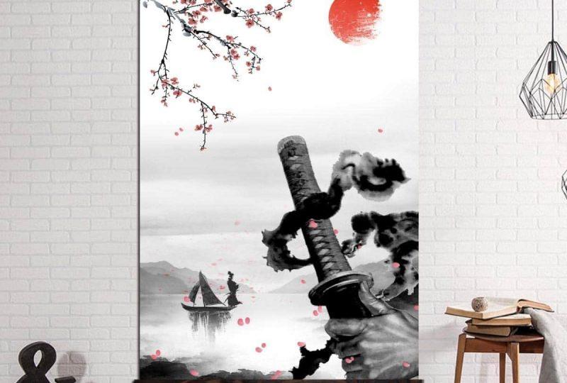 Tableau épée du samouraï Tableau Japonais Tableau Monde