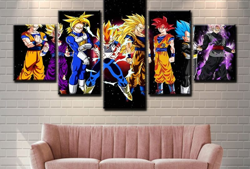 Tableau personnages Dragon Ball