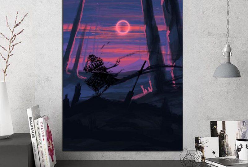 Tableau silhouette de samouraï